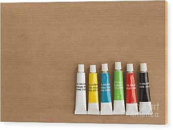 Oil Paint Tubes Wood Print