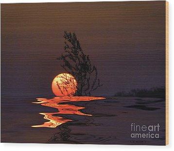 Our Sun Wood Print by Renate Knapp