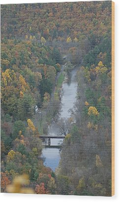 Pa Valley View Wood Print