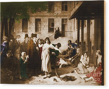 Pitie-salpetriere Hospital, 1795 Wood Print by Photo Researchers
