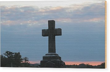 Remembrance At Sunset Wood Print
