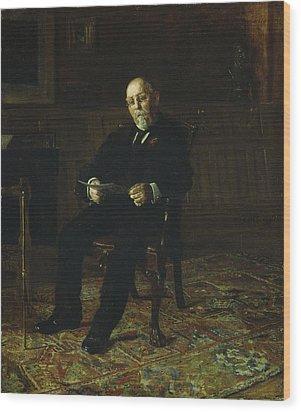 Robert M. Lindsay Wood Print by Thomas Cowperthwait Eakins