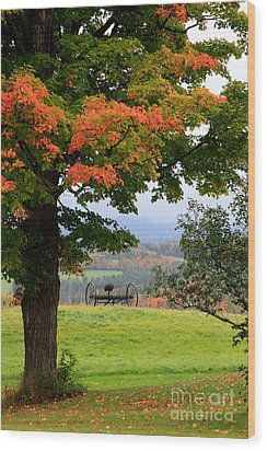 Wood Print featuring the photograph  Scenic New England In Autumn by Karen Lee Ensley