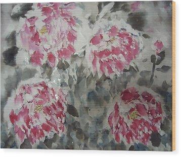 Snow Flower 01 Wood Print