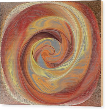 Spinning Rose Enigma Wood Print
