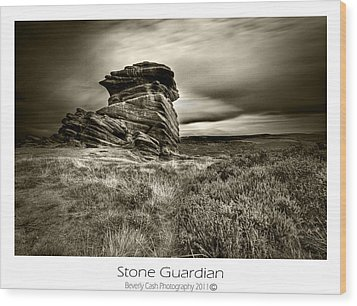 Wood Print featuring the photograph  Stone Guardian by Beverly Cash