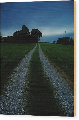 Stormy Road  Wood Print by Maria Blumberg