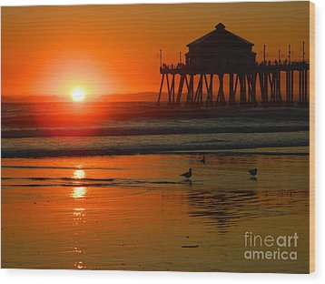 Sunset Thoughts Wood Print by Everette McMahan jr