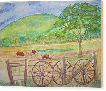 The Cattle Gap Wood Print by Belinda Lawson