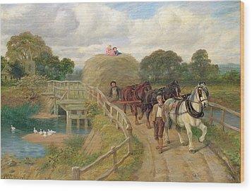The Last Load  Wood Print by Philip Richard Morris