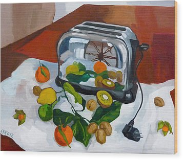 The Toaster Wood Print by Carmen Stanescu Kutzelnig