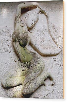 Traditional Thai Architecture   Wood Print by Panyanon Hankhampa
