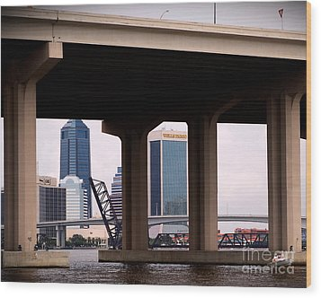 Welcome To Jacksonville Wood Print by Richard Burr