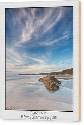 Welsh Coast - Porth Colmon Wood Print by Beverly Cash