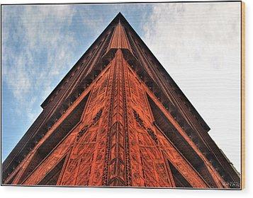 006 Guaranty Building Series Wood Print by Michael Frank Jr