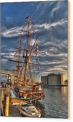 011 Uss Niagara 1813 Series Wood Print by Michael Frank Jr