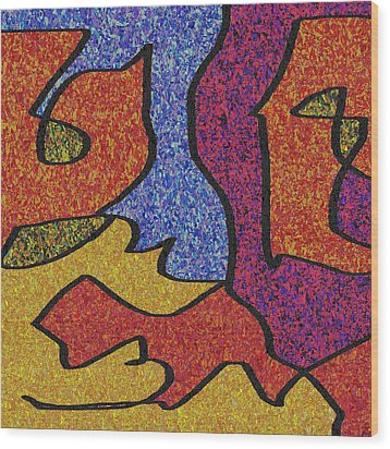 0664 Abstract Thought Wood Print by Chowdary V Arikatla