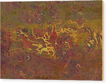 0694 Abstract Thought Wood Print by Chowdary V Arikatla