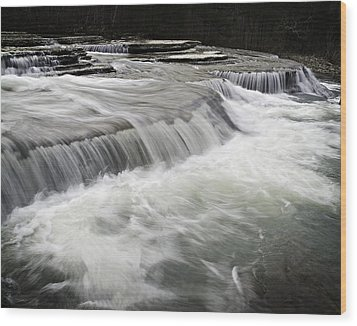 0804-0113 Six Finger Falls 2 Wood Print by Randy Forrester