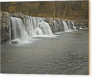 0902-6916 Natural Dam 1 Wood Print by Randy Forrester