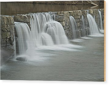 0902-7009 Natural Dam 2 Wood Print by Randy Forrester