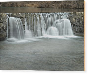 0902-7025 Natural Dam 3 Wood Print by Randy Forrester