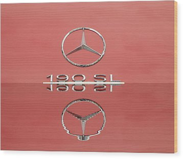 Old Mercede-benz Logos Wood Print by Odon Czintos