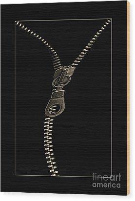 Zip Wood Print by Odon Czintos