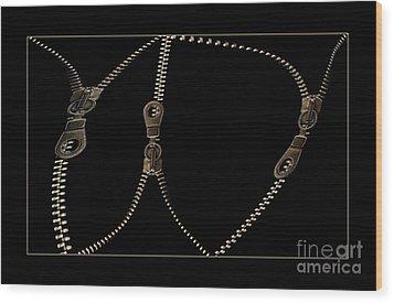 Zippers Wood Print by Odon Czintos