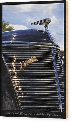 Wood Print featuring the photograph 1937 Ford Model 78 Cabriolet Convertible By Darrin by Gordon Dean II