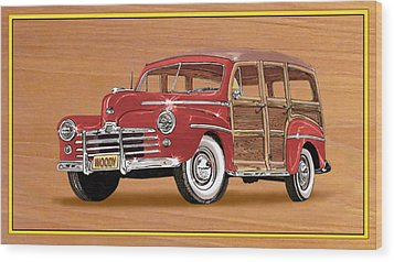 1946 Ford Woody Wood Print by Jack Pumphrey