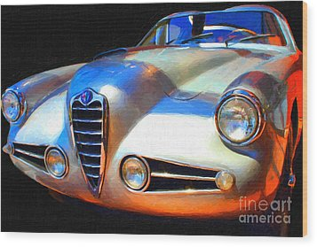 1955 Alfa Romeo 1900 Ss Zagato Wood Print by Wingsdomain Art and Photography