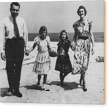 1956 Us Presidency, Nixon Family.  From Wood Print by Everett