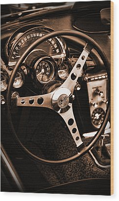 1962 Chevrolet Corvette Wood Print by Gordon Dean II