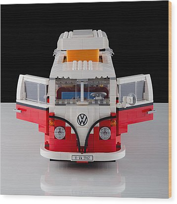1962 Vw Lego Bus Wood Print by Noah Katz