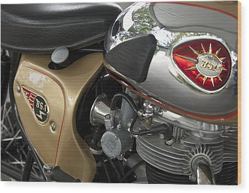 1966 Bsa 650 A-65 Spitfire Lightning Clubman Motorcycle Wood Print by Jill Reger