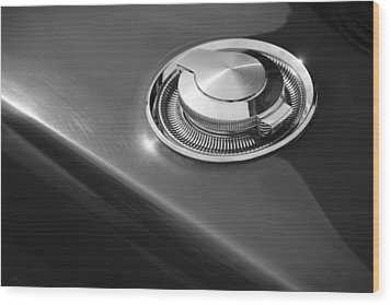Wood Print featuring the photograph 1968 Dodge Charger Fuel Cap by Gordon Dean II