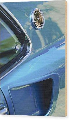 1969 Ford Mustang Mach 1 Emblem 2 Wood Print by Jill Reger