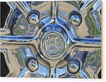 1970 Volkswagen Vw Karmann Ghia Wheel Wood Print by Jill Reger