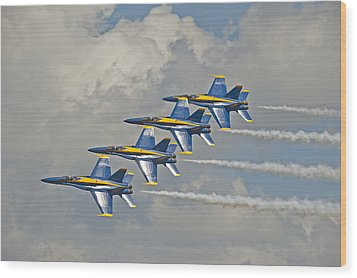 2012 U.s. Navy Blue Angels Wood Print