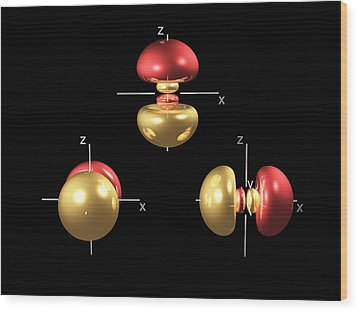 3p Electron Orbitals Wood Print by Dr Mark J. Winter
