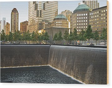911 Memorial Park Wood Print by Andrew Kazmierski