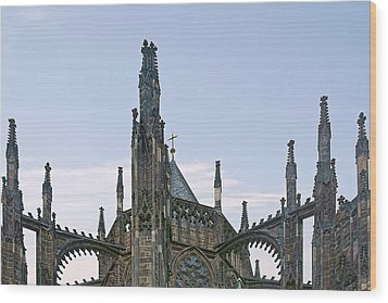 A Forest Of Spires - St Vitus Cathedral Prague Wood Print by Christine Till