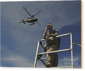 A Joint Terminal Attack Controller Wood Print by Stocktrek Images