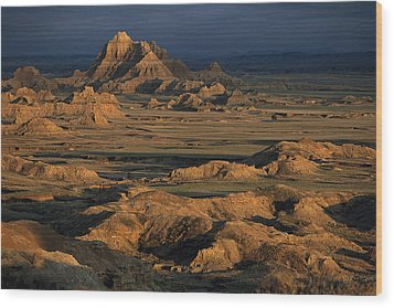 A Landscape Of Isolated Buttes And Rock Wood Print by Annie Griffiths