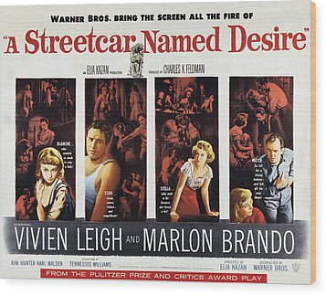 A Streetcar Named Desire, Vivien Leigh Wood Print by Everett