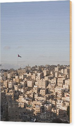 A View Of Amman, Jordan Wood Print by Taylor S. Kennedy