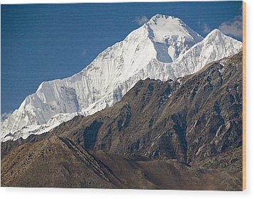 A View Of Dhaulagiri From The North Wood Print by Stephen Sharnoff