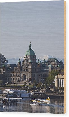 A View Of The Legislative Building Wood Print by Taylor S. Kennedy