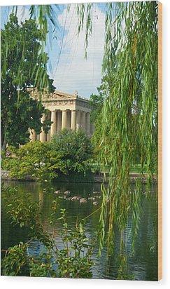 A View Of The Parthenon 17 Wood Print by Douglas Barnett